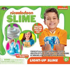 Nickelodeon Light-Up Slime Kit Gender: Unisex. Nickelodeon Light-Up Slime Kit Sparkle Slime, Glitter Slime, Slime Kit, Diy Slime, Craft Kits, Diy Kits, Clear Glue, Nickelodeon, Kids Party Supplies