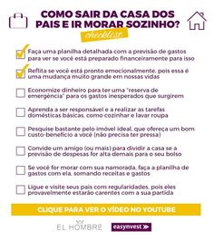 Dicas práticas para aprender a morar sozinho e sair de fato da casa dos pais. Dicas de investimento para ter estabilidade financeira. Dicas de estabilidade financeira. Dicas de finanças e investimentos Future House, Open House, My House, Apartment Hacks, Living Alone, Living Room Colors, Home Hacks, Family Love, First Home