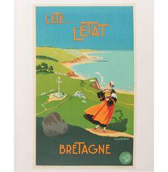 bretagne travel poster   June Important World Travel Poster Auction   Antique Helper