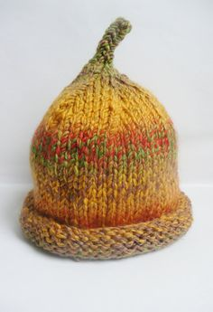 Knitted baby hat  6 to 12 months  pixie elf hat by TheYarnOwlsNest, £8.00