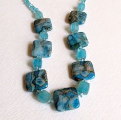 Jasper and Apatite Necklace with Sterling Silver by Smokeylady54