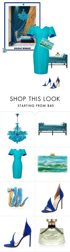 """""""Wish list"""" by theitalianglam ❤ liked on Polyvore featuring Kristin Drohan Collection, Roksanda, Edie Parker, Bulgari, Francesco Russo, contestentry and 2015wishlist"""