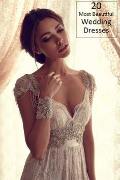 Vintage Gatsby style sequins wedding dress