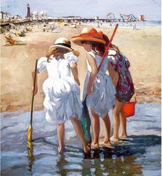 Sherree Valentine-Daines 1956 | pintor impresionista inglés