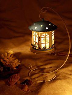 Dollhouse Miniature Metal DIY Kit w/ Rack Light Love in Time Dream Romantic Blue