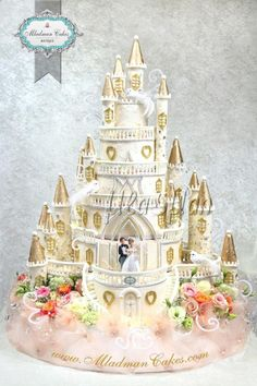 A place for people who love cake decorating. Extravagant Wedding Cakes, Elegant Wedding Cakes, Beautiful Wedding Cakes, Beautiful Cakes, Amazing Cakes, Elegant Cakes, Castle Wedding Cake, Fantasy Cake, Cute Cakes