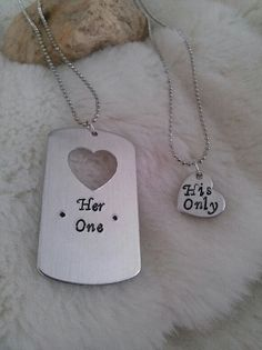 For a connection, get a dog tag necklace and have something special engraved. Only for your two hearts to know.