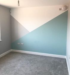 Playroom painting all finished 🙌🏻 got some furniture to move in now and fill it with all the toys that have taken over our living room! Kids Wall Decor, Baby Room Decor, Living Room Decor, Bedroom Decor, Boys Bedroom Paint, Kids Room Paint, Playroom Ideas, Bedroom Ideas, Geometric Wall Paint