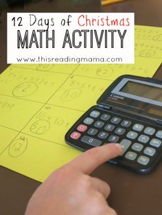 12 Days of Christmas Math Activity~ Packed full of math concepts and strategies such as mental math, multiplication, and teaching about the commutative property | This Reading Mama