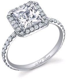 Neil Lane princess cut halo engagement ring rome_mac