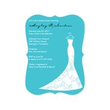 Dazzling Dress Bridal Shower Invitations