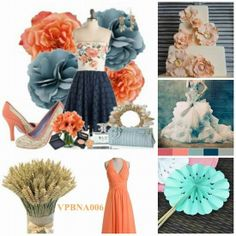 Wedding Color Ideas For August Wedding | Chic Summer August Wedding Ideas |  Wedding