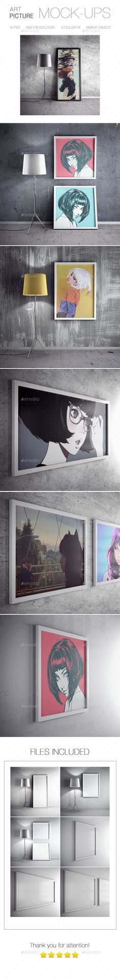 Picture Art Mockup — Photoshop PSD #gallery canvas #canvas mock-up • Available here → https://graphicriver.net/item/picture-art-mockup/15041600?ref=pxcr