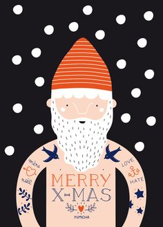 Christmas postcard to wish with humor (and love) good holidays to . - Christmas postcard to wish with humor (and love) happy holidays to whoever you want!