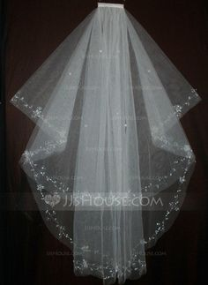 Wedding Veils - $19.99 - One-tier Fingertip Bridal Veils With Finished Edge (006035479) http://jjshouse.com/One-Tier-Fingertip-Bridal-Veils-With-Finished-Edge-006035479-g35479