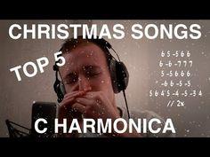 TOP 5 Christmas Songs | C HARMONICA TABS - YouTube