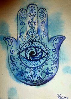 Hamsa Healing Hand. This would make a beautiful tattoo!