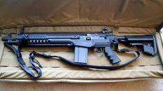 Prettiest M1A I've ever seen.    AR15 AssaultRifle Molonlabe SecondAmendment 2A Magpul 556 223 Pewpewlife Tavor Sickguns Gunlife BlackRifle 2ndamendment Guns DontTreadOnMe