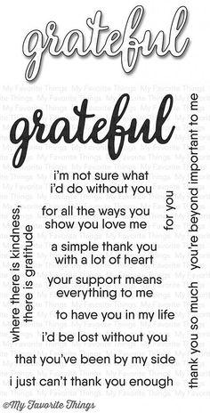 MFT STAMPS: Grateful For You