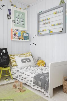 In Albie's bedroom,