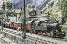 Tengo la suerte de tener buenos amigos con la misma afición. Un amigo mío me ha dejado fotografiar y editar un video de la única locomotor... Diorama, Scenery, Layout, Train, Ideas, Hobbies, Eten, Scale Model, Landscape