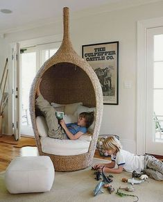 Cozy and comfy reading nook space ideas are never enough for avid readers. It is every big reader dream to own a little space to crawl in with a good book to relax and read freely whenever they feel like having a break from everyday life. We have found ideas for cozy and comfy reading nook space ideas for people of all ages, for your toddlers, teen or yourself to get reading in a special environment you have created especially for that purpose. Comfy Reading Chair, Reading Nook Kids, Cozy Reading Corners, Cozy Chair, Cozy Corner, Kids Corner, Reading Chairs, Study Chairs, Cozy Bed