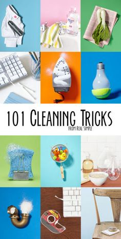 101 surprising cleaning tricks! Guide to help keep your home clean!