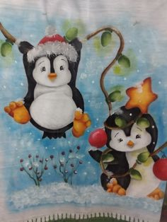 Penguin Coloring Pages, Woodworking Enthusiasts, Blue Nose Friends, Easy Christmas Decorations, Adult Crafts, Fabric Painting, Christmas Projects, Simple Christmas, Cute Pictures