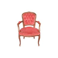 The Pemberton: Vintage Deep Blush Tufted Parlor Chair || Something Vintage Rentals: Vintage rentals and handcrafted pieces for weddings and events in DC, Maryland, and Virginia ||