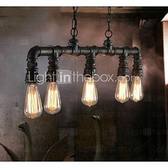 Pendant Light ,  Traditional/Classic Vintage Lantern Country Retro Painting Feature for Mini Style MetalLiving Room Bedroom Dining Room 2017 - $110.49