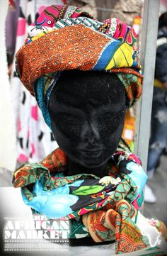 Fashion and styling at the African market in Old Spitalfields, London