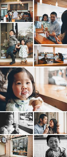ice cream shop photo session