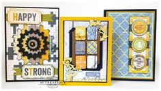 "Great card ideas featuring IMAGINE Crafts/Tsukineko inks, variety of Spellbinders' amazing dies and the ""Strong"" paper collection from Authentique Paper."