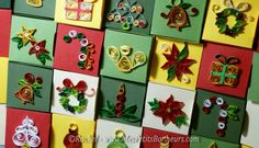 christmas quilling - quilling noel paperolles bricolage papier