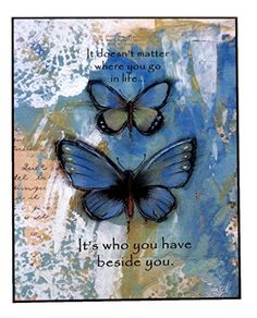 It Doesnt Matter With Butterflies Wall Plaque *** Click Image For More  Details.