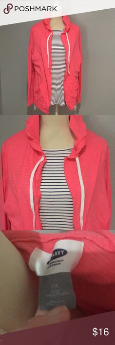 2X old navy lightweight hoodie Adorable fitted bright pink hoodie. Like new! 2x Old Navy Tops Sweatshirts & Hoodies