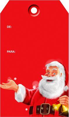 Tags de Natal Papai Noel 2 totalmente grátis, pronto para personalizar e imprimir em casa. Christmas Gift Tags Printable, Printable Tags, Christmas Tag, Christmas Printables, All Things Christmas, Christmas Ideas, Santa Claus Wallpaper, Card Sentiments, Paper Tags