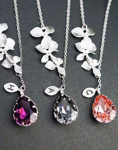 personalized pendant necklaces. love!