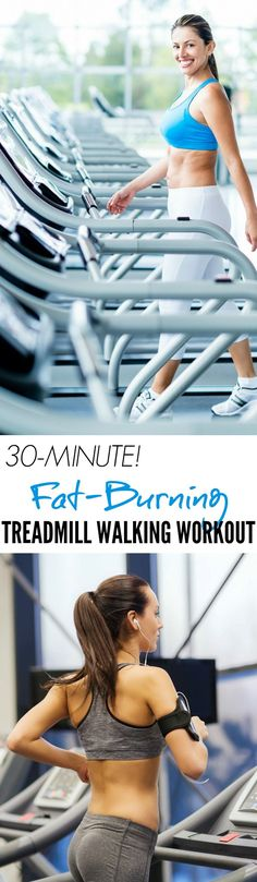 Try an efficient 30-Minute Fat-Blasting Treadmill Walking Workout to get your heart rate up, break a sweat, and stay in shape!
