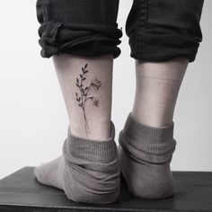 Image result for wildflower ankle tattoos