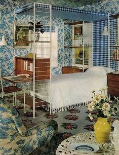 Retro Bedrooms, Vintage Interiors, Retro Home, Vintage Decor, Everything, Home And Garden, The Unit, Places, House
