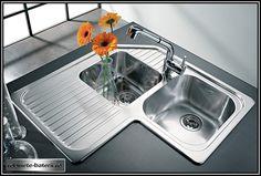 Kitchen Basin, Corner Sink Kitchen, Kitchen Sink Design, Laundry Room Layouts, Diy Kitchen Storage, Apartment Kitchen, Home Kitchens, Furniture Design, Kitchen Appliances