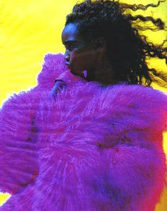 """furples: """" ELLE France October 1991 Une Mode Qui A Du Chien Beverly Peele by Friedemann Hauss """""""