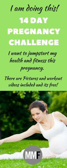 Join this 2-Week Pregnancy Workout Challenge to jumpstart your health and fitness this pregnancy. Daily short workouts to do at home. And there are pictures and videos of all the workouts, this is great!