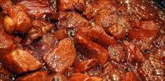 Χοιρινό με σάλτσα σόγιας Chicken Wings, Food And Drink, Beef, Meat, Steak, Buffalo Wings
