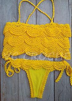 VCCROCHE BY VÃNIA CALMON One Piece Swimwear, Bikini Swimwear, Bikini Set, Crochet Crop Top, Crochet Bikini, Halter Crop Top, Beach Tops, Foto E Video, Beachwear