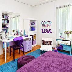 projetos para quartos de meninas adolescentes, quartos decorados, design de interiores, idéias para decorar quartos de adolescentes, quartos modernos, espelhos decorativos, escrivaninhas para meninas, cores para quartos de meninas adolescentes