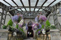 The beautiful rear entrance to Inveraray Castle (1746-1758), Inveraray, Argyll, Scotland, UK
