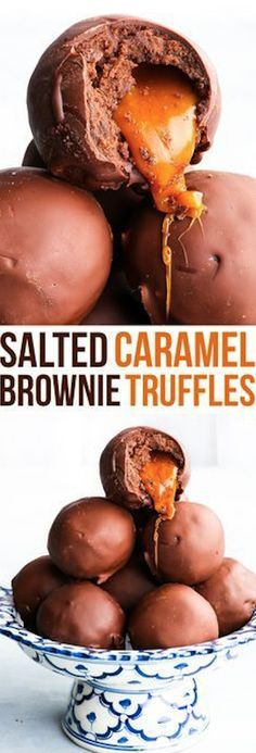 Salted Caramel Brownie Truffles Recipe