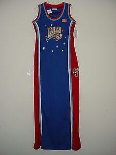 Women's Original Harlem Globetrotters Meadowlark #36 Size M Jersey Dress NWT